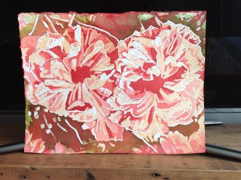 Helen Shideler poured watercolor