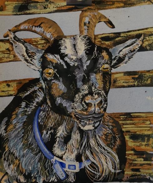 Helen Shideler  Old Goat painting